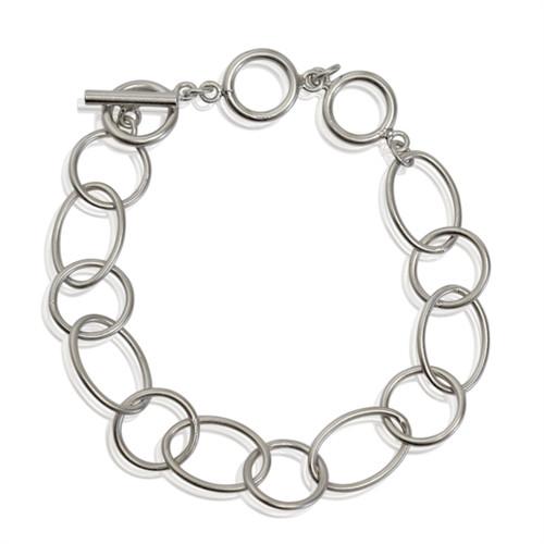 A Armbånd med ringe sølv