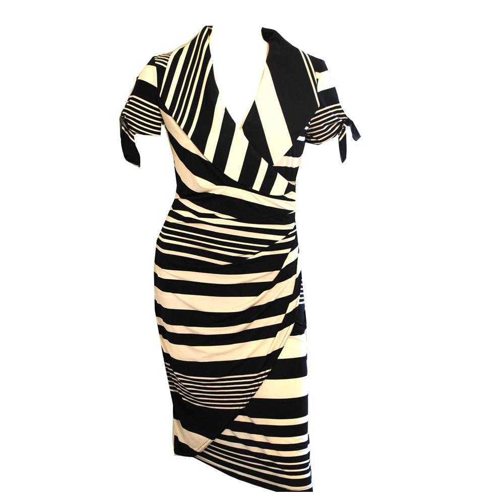 Stribet Azur kjole