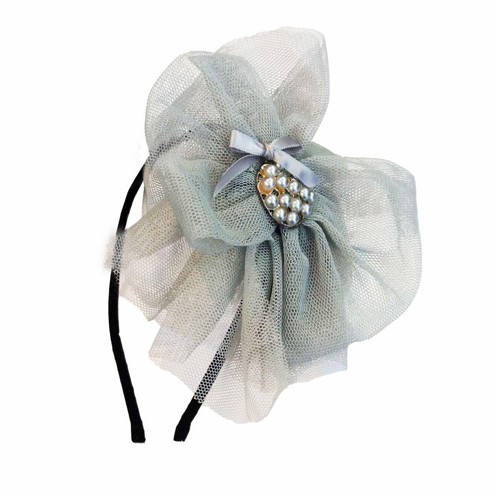 Hårbøjle sølv blomst