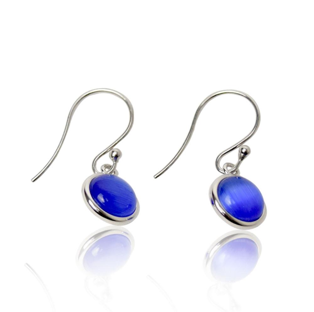 A ørering blå sølv