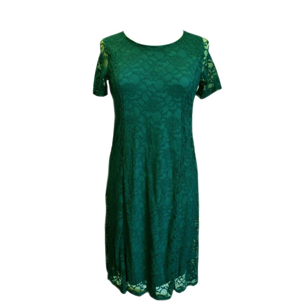 Strada kjole grøn blonde