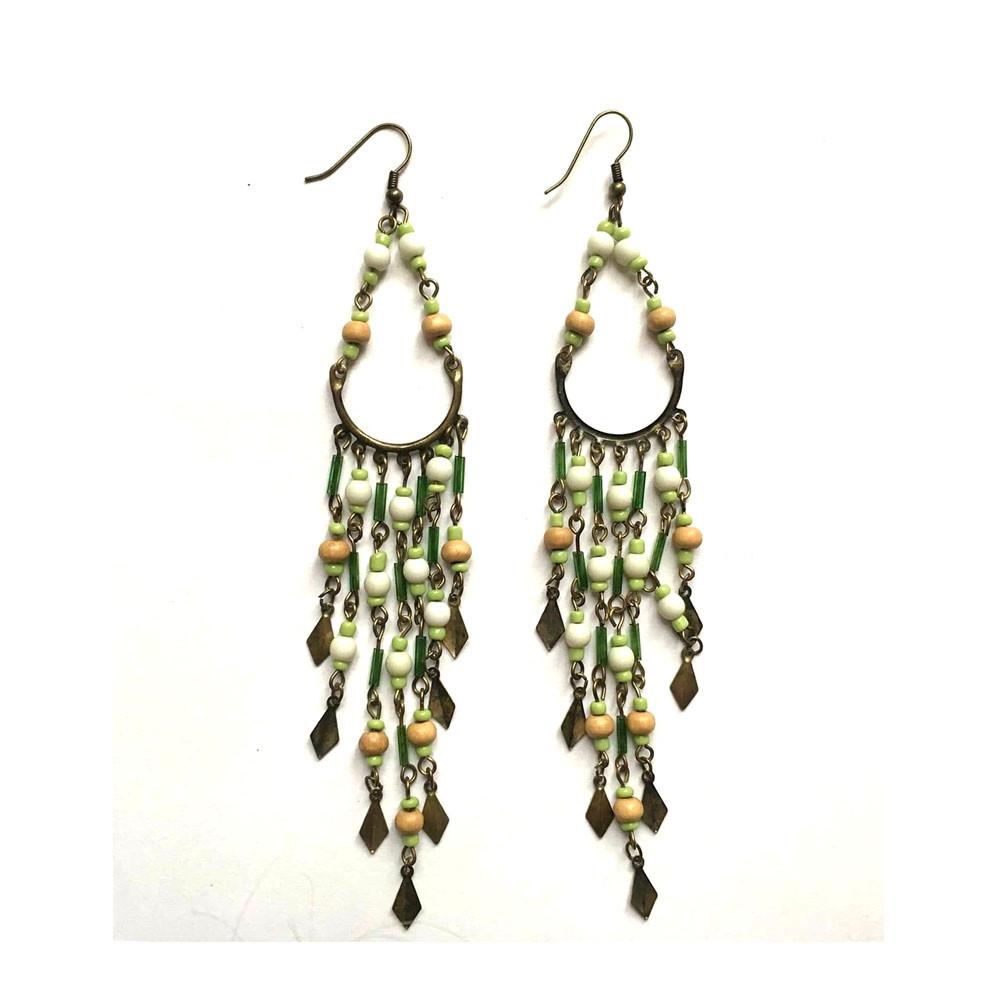 Lange øreringe - perler
