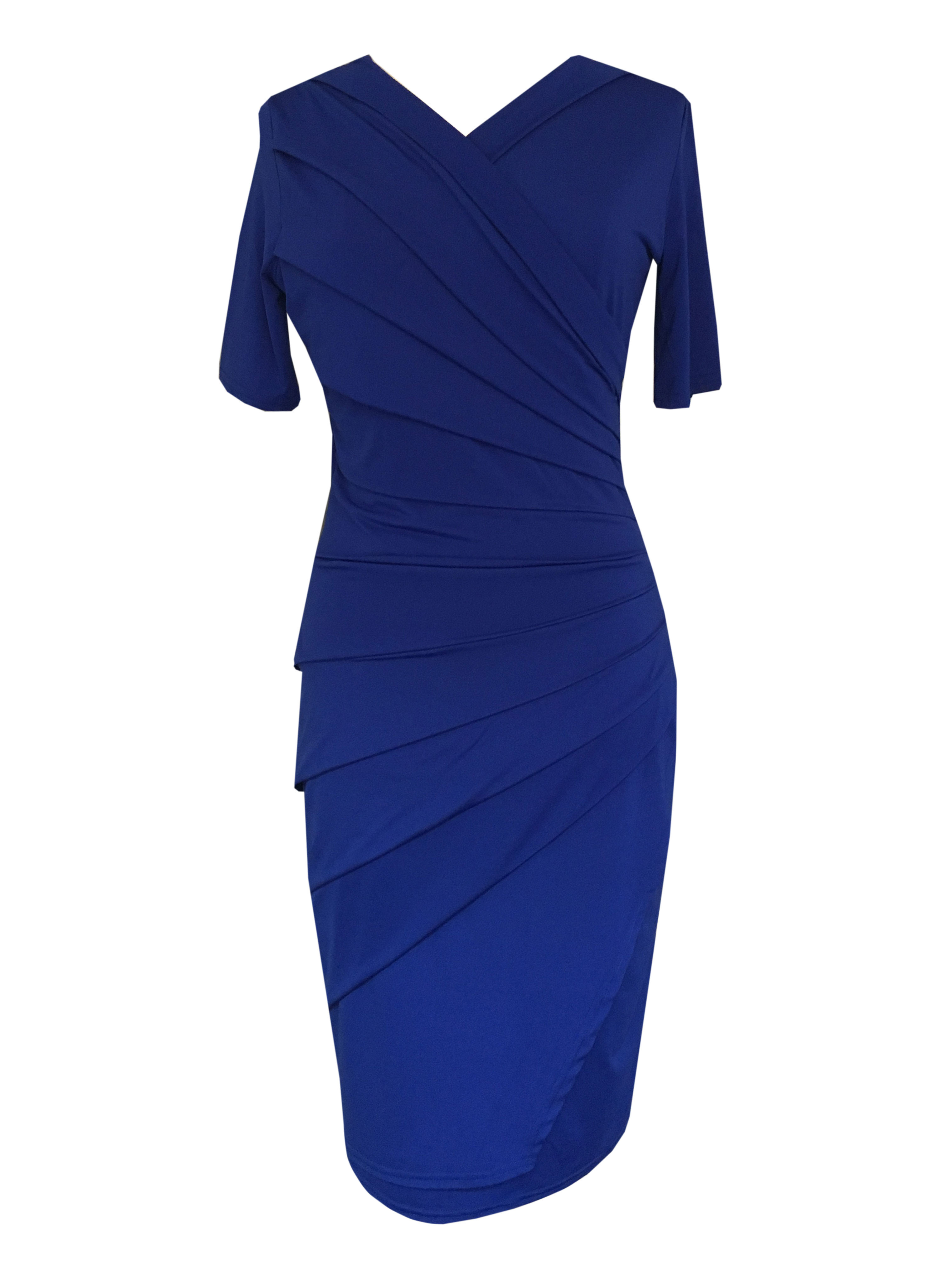 Draperet kjole royal blue