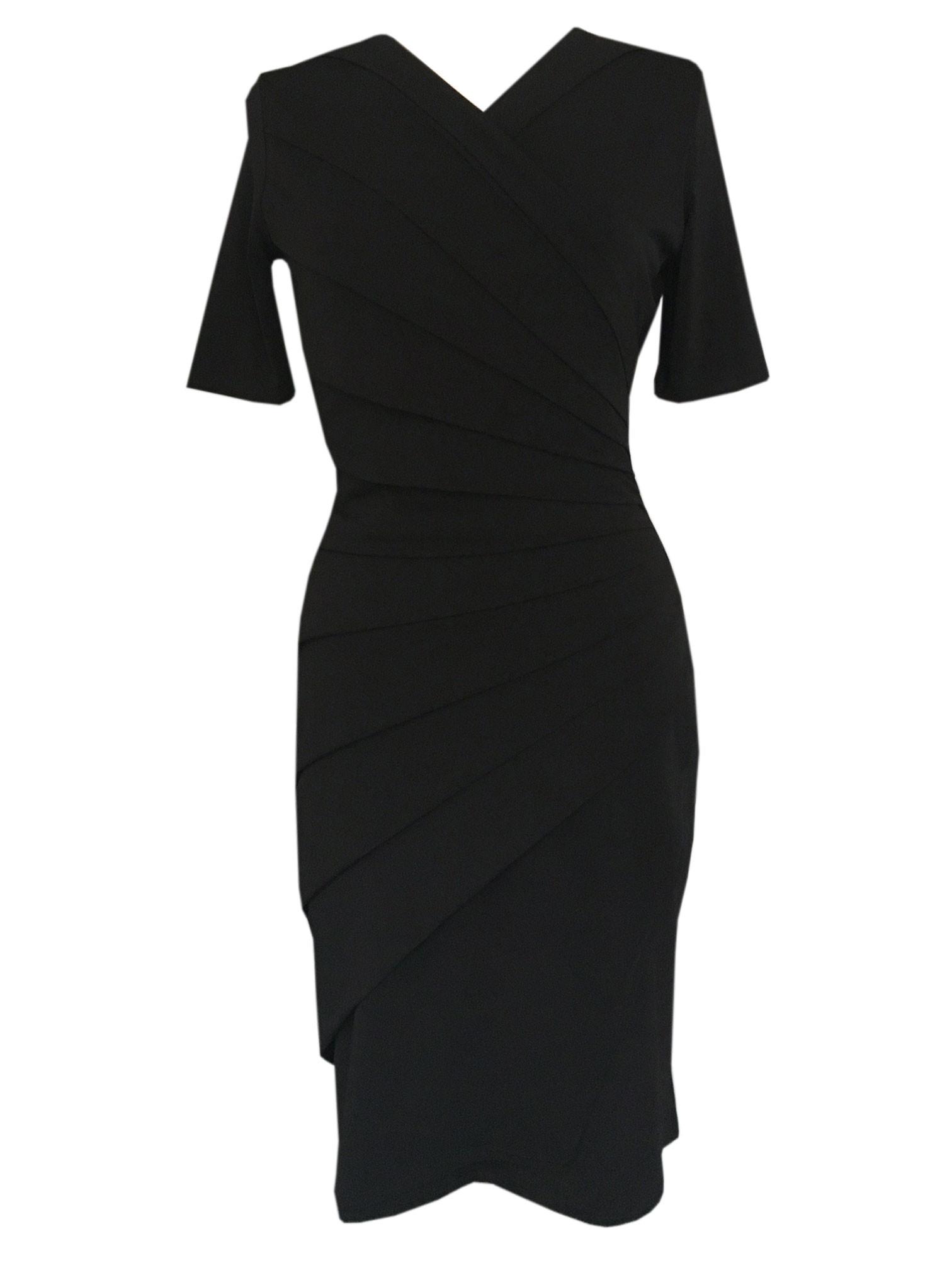 Draperet kjole sort
