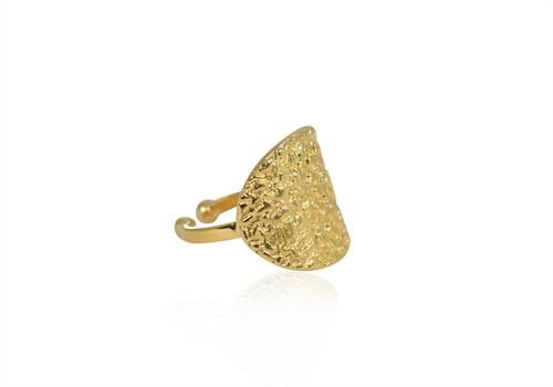A Ring - rå look - guld