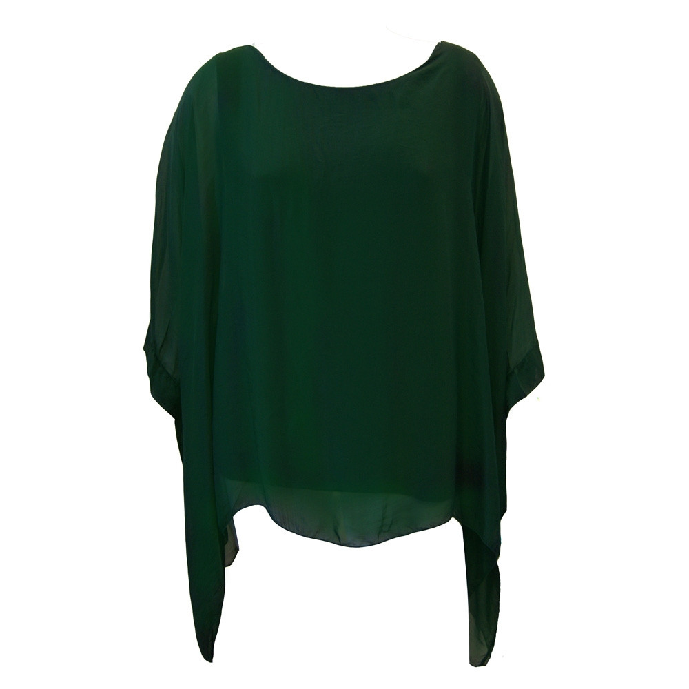 Silkebluse grøn
