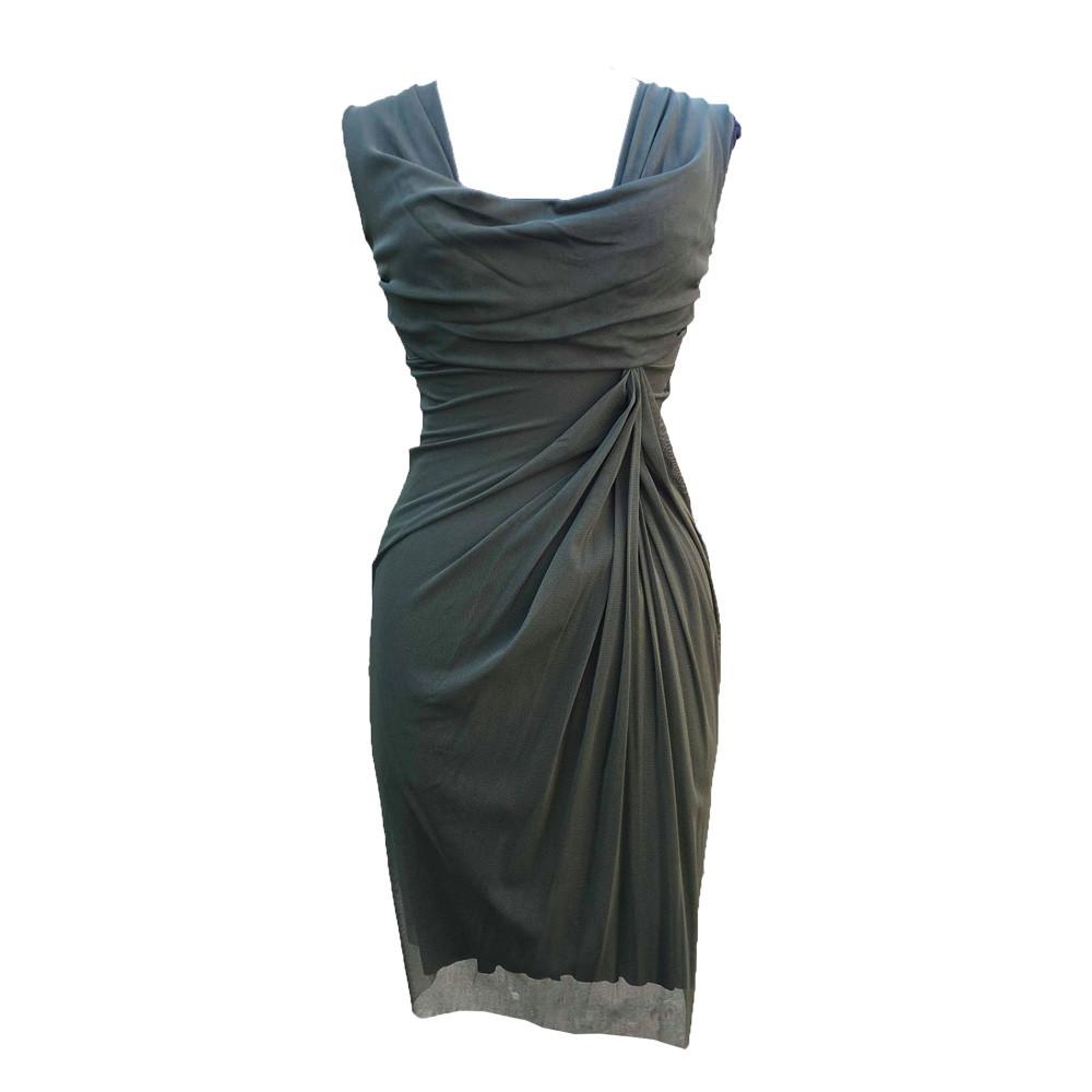 Draperet stretch kjole