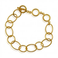 A Armbånd med ringe guld
