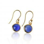 A ørering blå guld