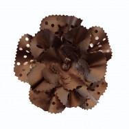 Blomst i brun læder