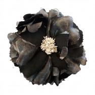Sølv denim blomst