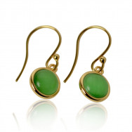 A ørering grøn guld