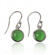 A ørering grøn sølv