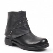Støvle sort læder