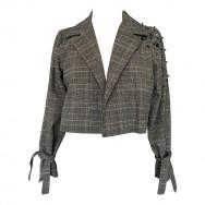 brun kort tweed jakke