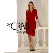 Draperet kjole rød
