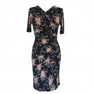 Draperet kjole blomstret