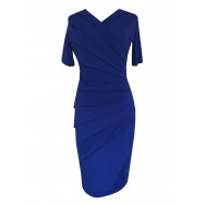 Draperet kjole royal blue