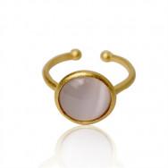 A Ring rosa sten guld