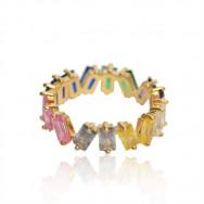 A Ring med sten guld