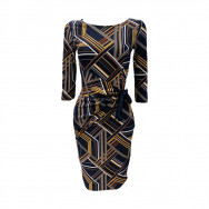 A A draperet kjole