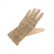 A tweed handske