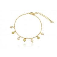 Aa. Armbånd - mønt & perle